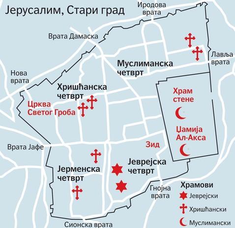 jerusalim mapa Dve države, dva Jerusalima jerusalim mapa
