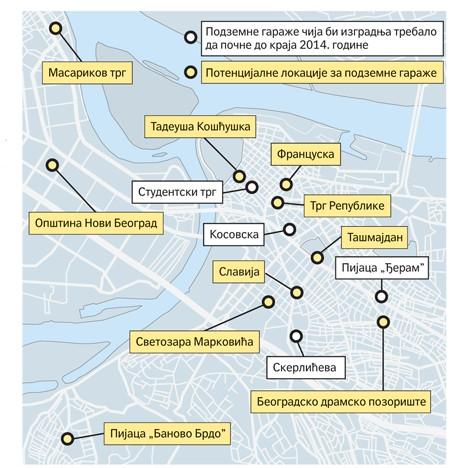 garaže beograd mapa Политика Online   У плану почетак градње четири подземне гараже до  garaže beograd mapa