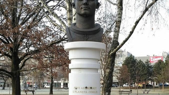 Oskrnavljen Spomenik Juriju Gagarinu U Zagrebu