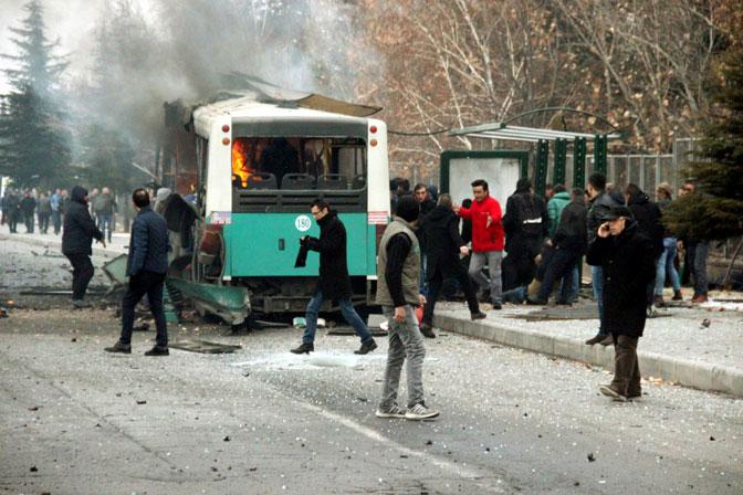 Турска: Експлодирао аутобус, више погинулих и повређених