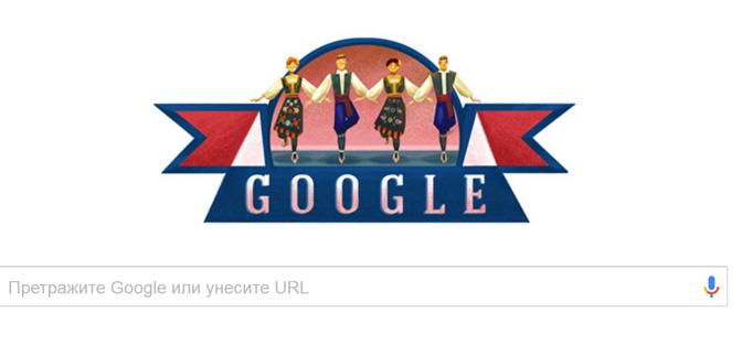 Ко Дню государственности Сербии Google разместил рисунок с коло