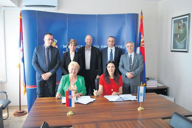 Protokol o saradnji Filološkog fakulteta i ONO koledža potpisale su Ljiljana Marković i Stela Revital Šajovic (Foto: Ministarstvo prosvete i nauke)