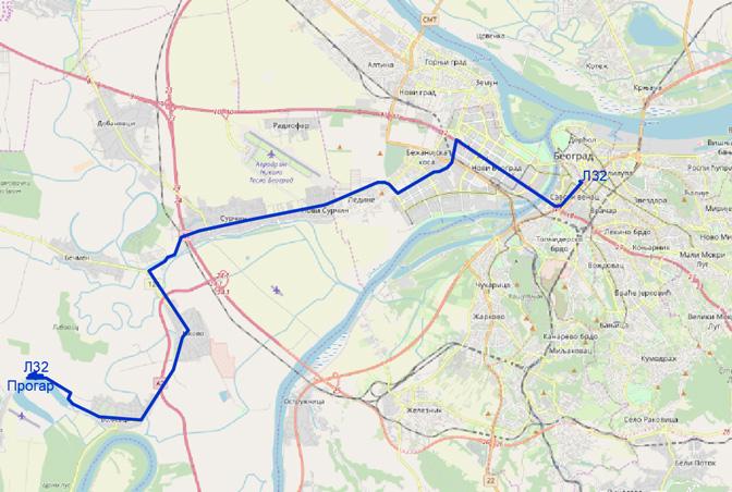 Mape I Trase Koridorskih Linija